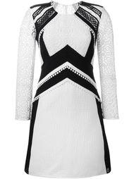 платье с кружевными вставками  Burberry Prorsum