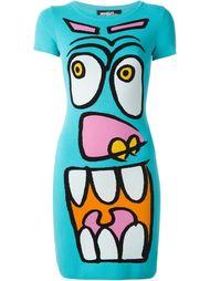 трикотажное платье с анимационным принтом Jeremy Scott