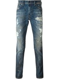 джинсы прямого кроя с потертой отделкой Diesel