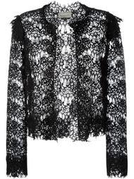 кружевной укороченный пиджак  Lanvin