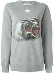 толстовка с принтом обезьян Givenchy