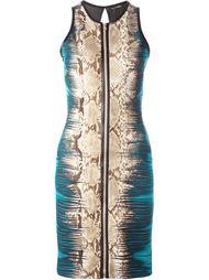 платье с принтом змеиной кожи Roberto Cavalli