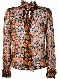 прозрачная рубашка с цветочным принтом Lanvin
