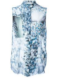 блузка без рукавов с цветочным принтом Mm6 Maison Margiela