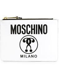 клатч с принтом  Moschino