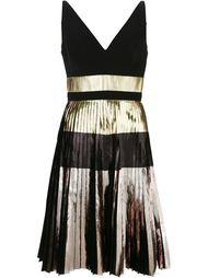плиссированное платье с эффектом металлик Proenza Schouler