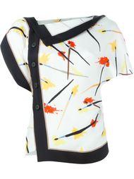блузка со смещенной застежкой на пуговицы Emilio Pucci
