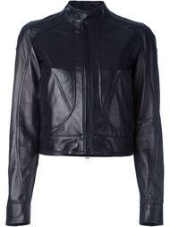 укороченная кожаная куртка Diesel Black Gold