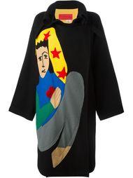 пальто с разноцветной аппликацией  Jc De Castelbajac Vintage