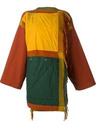 пальто свободного кроя в стиле колор-блок  Jc De Castelbajac Vintage