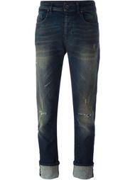 джинсы с потертой отделкой Diesel Black Gold