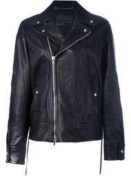 кожаная куртка-бомбер Diesel Black Gold