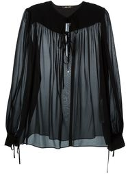 прозрачная блузка Roberto Cavalli