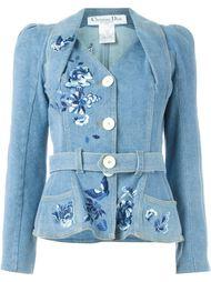 джинсовый жакет с вышивкой Christian Dior Vintage
