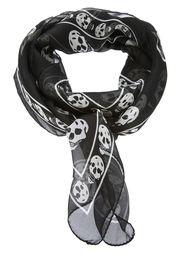 шарф в принт с черепами Alexander McQueen