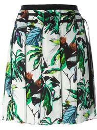 плиссированная юбка с цветочным принтом Proenza Schouler