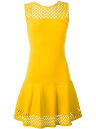 платье с сетчатной вставкой  Fendi