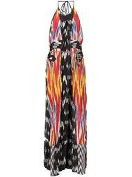 длинное платье с узором икат Altuzarra