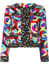 пиджак мешковатого кроя с абстрактным принтом Boutique Moschino