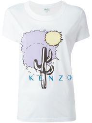 футболка с принтом кактуса Kenzo