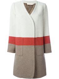пальто дизайна колор-блок Tory Burch
