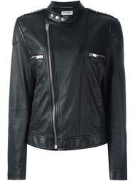 байкерская куртка с воротником-стойкой  Saint Laurent