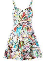 мини-платье с абстрактным принтом Jeremy Scott