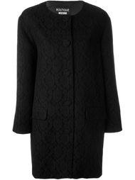 пальто с кружевным слоем Boutique Moschino