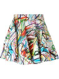 расклешенная юбка с принтом Jeremy Scott