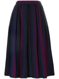 полосатая плиссированная юбка Yves Saint Laurent Vintage