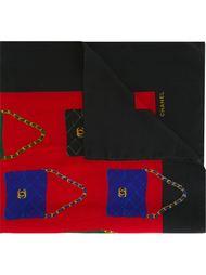 платок с принтом сумочек Chanel Vintage