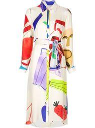 платье-рубашка с графическим принтом Novis
