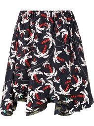юбка с принтом пальм Julien David