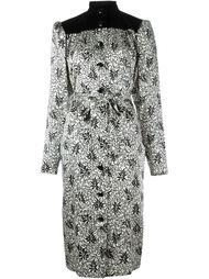 платье-рубашка с комбинированным принтом Yves Saint Laurent Vintage