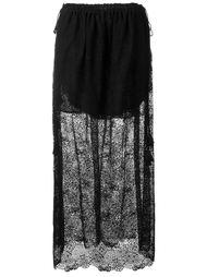 кружевная юбка с вышивкой Chloé