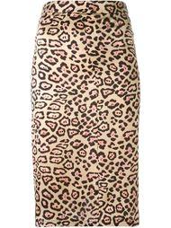 юбка А-образного силуэта с леопардовым принтом Givenchy