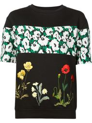 свитер с цветочной вышивкой и короткими рукавами Stella McCartney