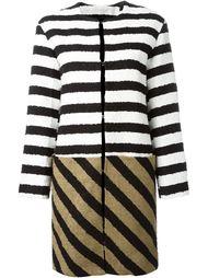 полосатое трикотажное пальто  Sonia Rykiel