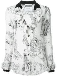 блузка с принтом дефиле Moschino