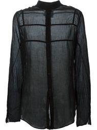 прозрачная рубашка с воротником-стойкой Lost & Found Rooms