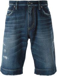 джинсовые шорты с потертой отделкой Dolce & Gabbana