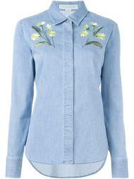 джинсовая рубашка с вышивкой Stella McCartney