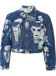 жаккардовая джинсовая куртка с принтом лиц Jean Paul Gaultier Vintage