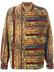 полосатая рубашка свободного кроя Jean Paul Gaultier Vintage
