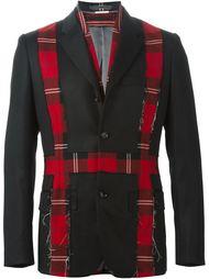 пиджак и жилетка с клетчатыми вставками Comme Des Garçons Vintage