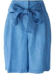 джинсовые шорты с завязкой на поясе 3.1 Phillip Lim