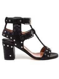 босоножки с заклепками на каблуках-столбиках Laurence Dacade