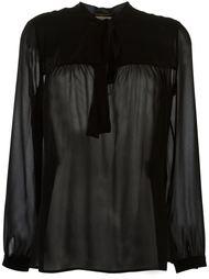 прозрачная блузка с мягким бантом Saint Laurent