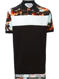 футболка-поло с цветочным принтом   Givenchy