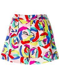 шорты с абстрактным принтом Boutique Moschino